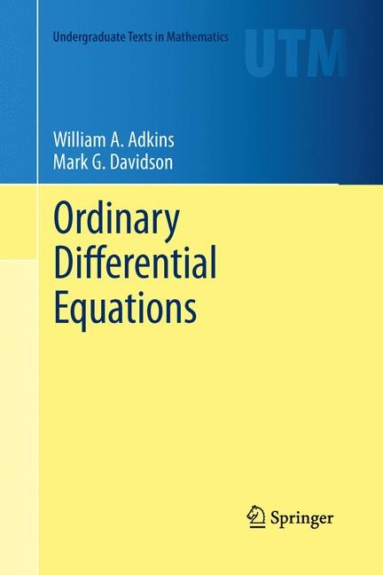 Ordinary Differential Equations | Adkins / Davidson | 2012, 2015 | Buch (Cover)
