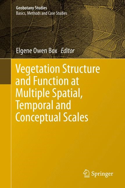 Vegetation Structure and Function at Multiple Spatial, Temporal and Conceptual Scales | Box | 1st ed. 2016, 2016 | Buch (Cover)