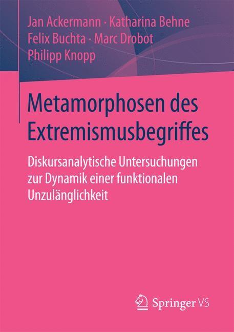 Metamorphosen des Extremismusbegriffes | Ackermann / Behne / Buchta | 2015, 2015 | Buch (Cover)