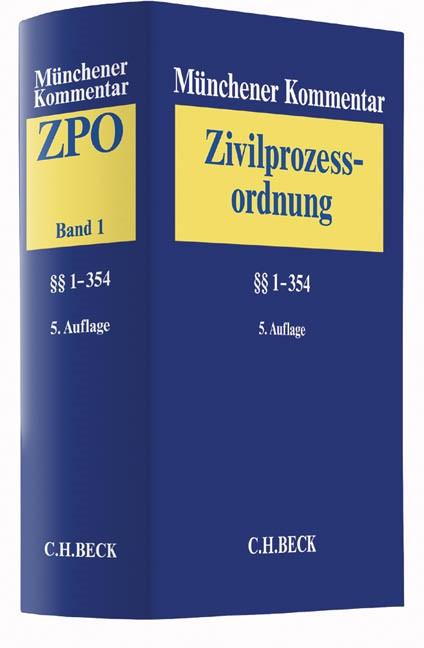 Münchener Kommentar zur Zivilprozessordnung: ZPO, Band 1: §§ 1-354 | 5. Auflage, 2016 | Buch (Cover)