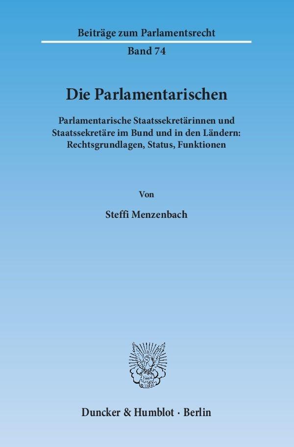 Abbildung von Menzenbach | Die Parlamentarischen | 2015