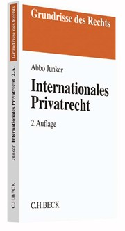 Internationales Privatrecht | Junker | Buch (Cover)