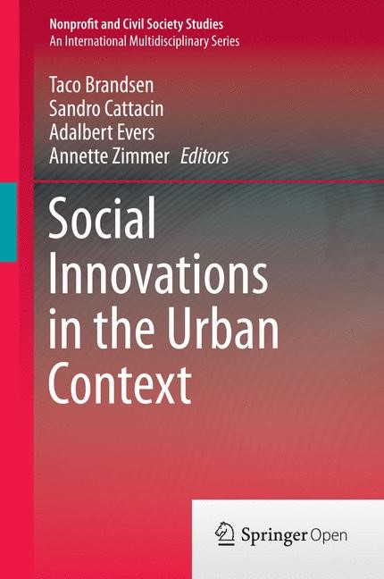 Social Innovations in the Urban Context | Brandsen / Cattacin / Evers / Zimmer | 1st ed. 2016, 2016 | Buch (Cover)