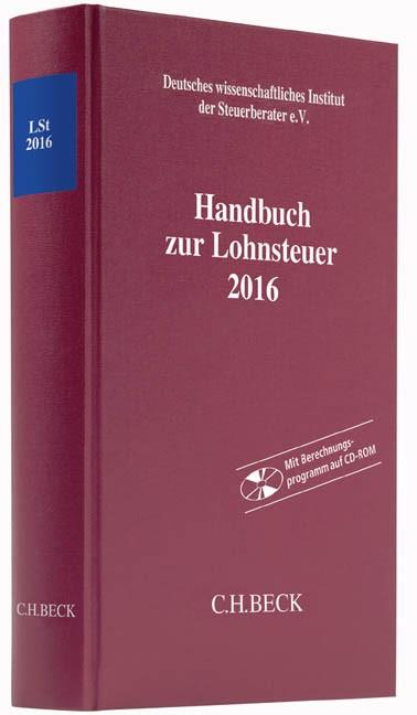 Handbuch zur Lohnsteuer 2016: LSt 2016, 2016 (Cover)