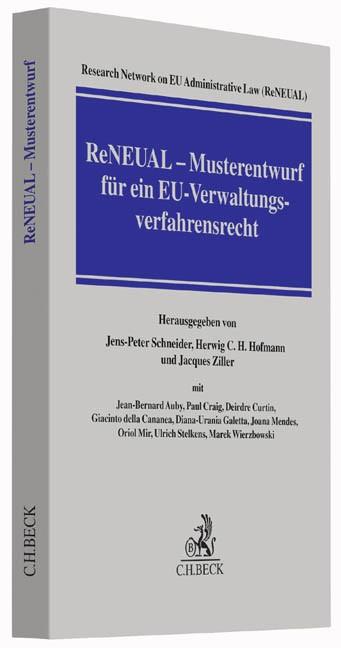 ReNEUAL - Musterentwurf für ein EU-Verwaltungsverfahrensrecht | Research Network on EU Administrative Law (ReNEUAL) | Buch (Cover)