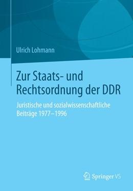 Abbildung von Lohmann   Zur Staats- und Rechtsordnung der DDR   2015   2015