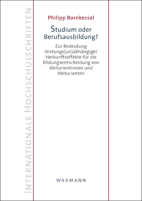 Studium oder Berufsausbildung?   Bornkessel, 2015   Buch (Cover)