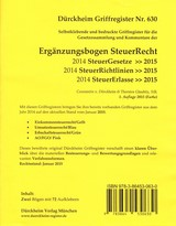 Dürckheim-Register - Ergänzungsbogen SteuerRecht (2015) | Dürckheim, 2015 (Cover)