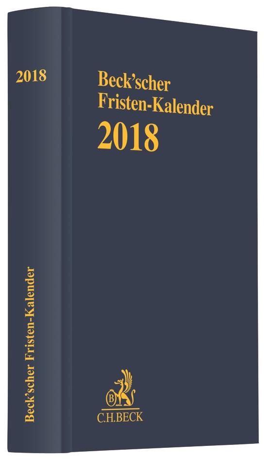 Beck'scher Fristen-Kalender 2018, 2017 | Buch (Cover)