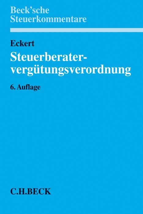 Steuerberatervergütungsverordnung: StBVV   Eckert   Buch (Cover)