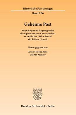 Abbildung von Rous / Mulsow   Geheime Post   1. Auflage   2015   106   beck-shop.de