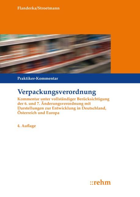 Verpackungsverordnung | Stroetmann / Flanderka | 4. Auflage, 2015 | Buch (Cover)