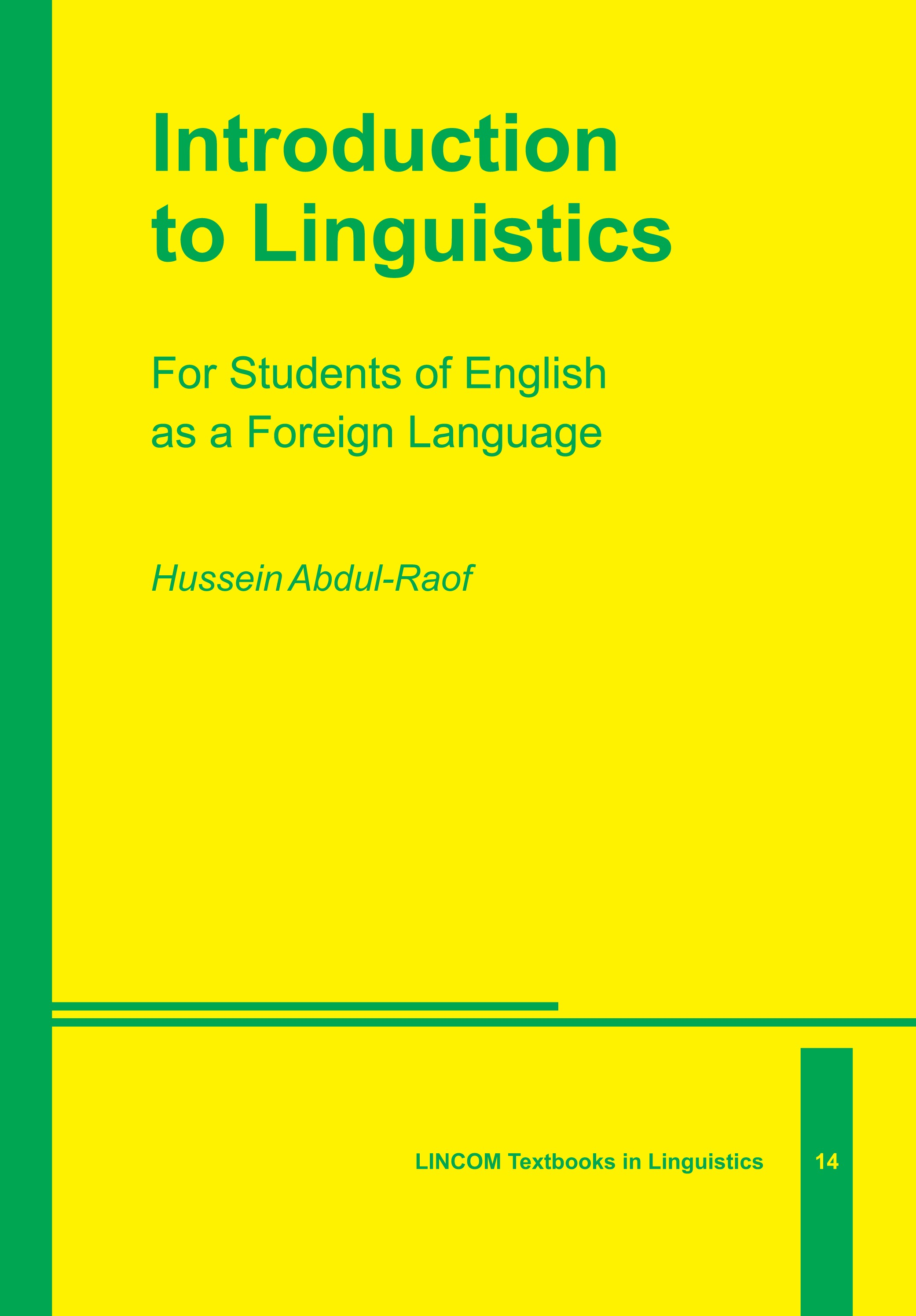 Abbildung von Abdul-Raof | Introduction to Linguistics | 2015