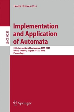 Abbildung von Drewes | Implementation and Application of Automata | 1st ed. 2015 | 2015 | 20th International Conference,...