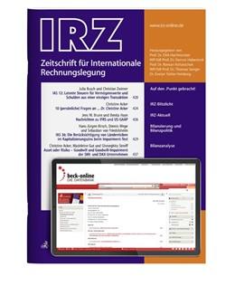 Abbildung von IRZ • Zeitschrift für Internationale Rechnungslegung | 15. Jahrgang. | 2020