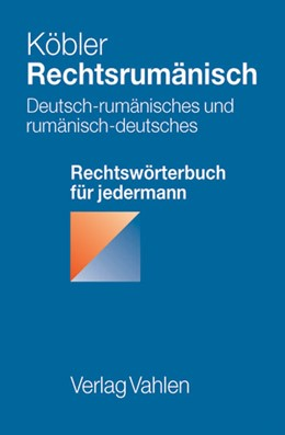 Abbildung von Köbler | Rechtsrumänisch | 1. Auflage | 2006 | beck-shop.de