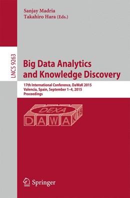 Abbildung von Madria / Hara   Big Data Analytics and Knowledge Discovery   1. Auflage   2015   beck-shop.de