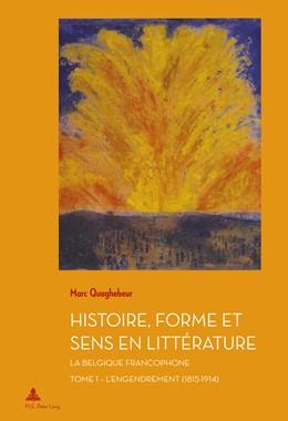 Abbildung von Quaghebeur | Histoire, Forme et Sens en Littérature | 1. Auflage | 2015 | 40 | beck-shop.de