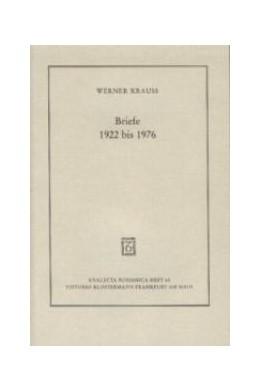 Abbildung von Krauss | Briefe 1922 bis 1976 | 1. Auflage 2002 | 2002 | 65
