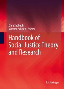 Abbildung von Sabbagh / Schmitt   Handbook of Social Justice Theory and Research   1. Auflage   2016   beck-shop.de