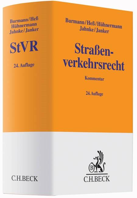 Straßenverkehrsrecht: StVR   Burmann / Heß / Hühnermann / Jahnke / Janker   Buch (Cover)