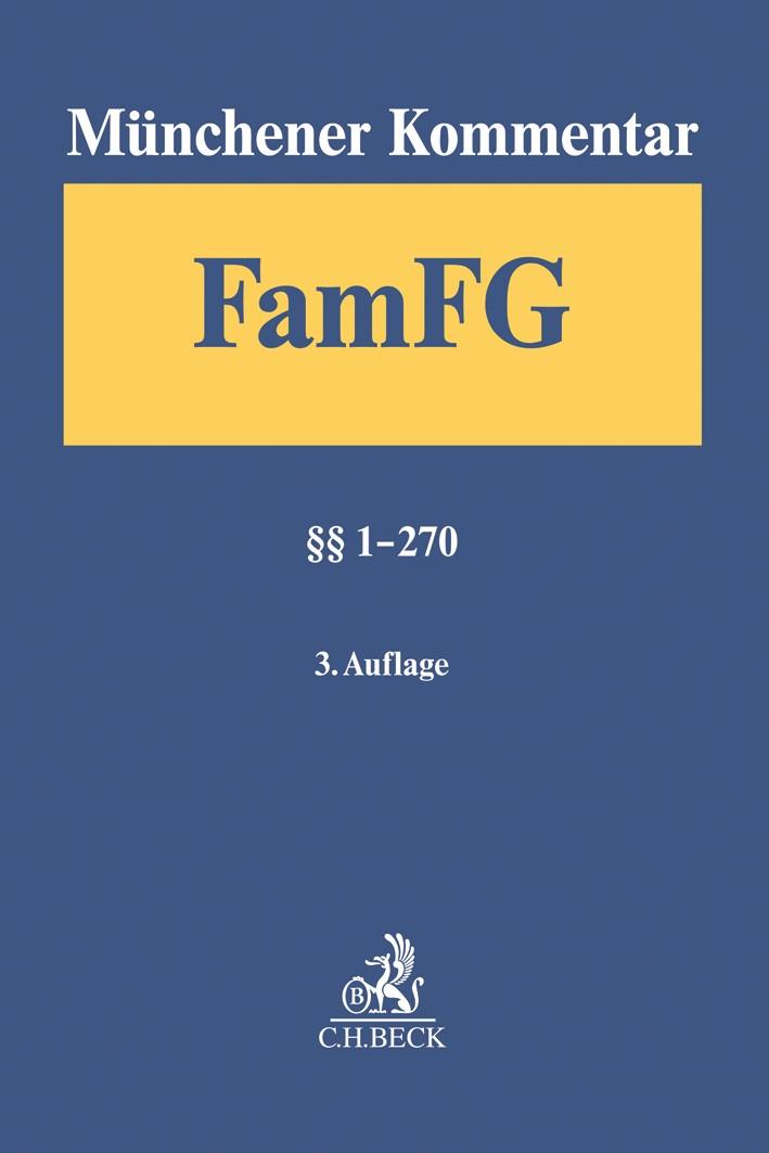Münchener Kommentar zum FamFG, Band 1: §§ 1-270 | 3. Auflage, 2018 | Buch (Cover)