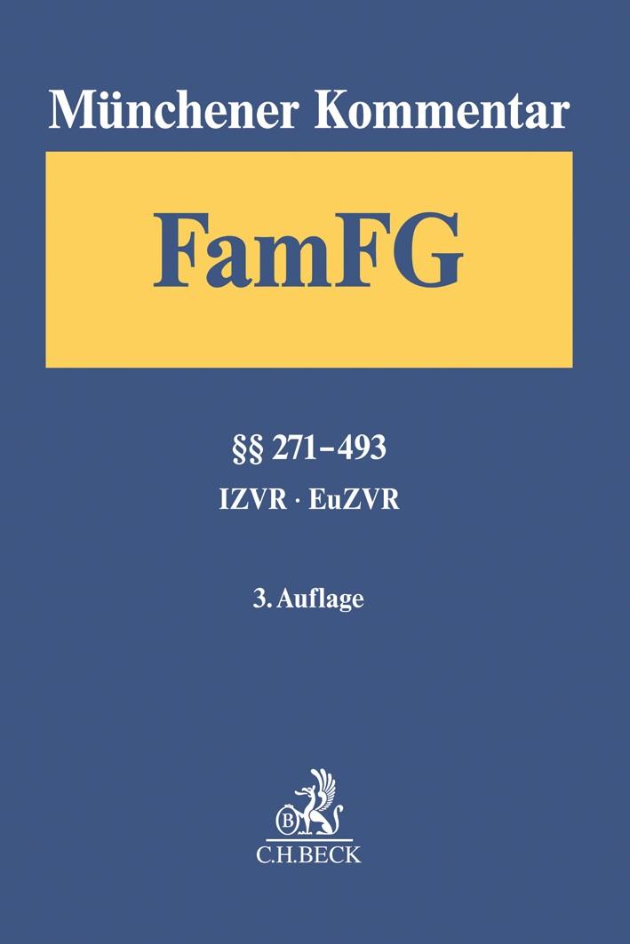 Münchener Kommentar zum FamFG, Band 2: §§ 271-493, IZVR, EuZVR | 3. Auflage, 2019 | Buch (Cover)