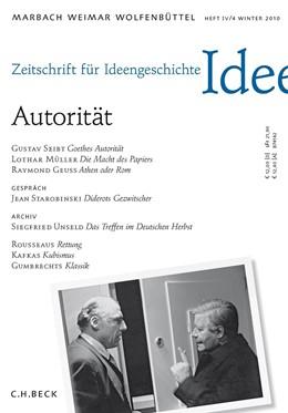 Abbildung von Zeitschrift für Ideengeschichte Heft IV/4 Winter 2010: Autorität | 2015