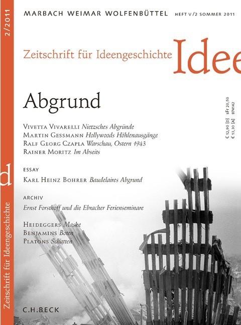 Zeitschrift für Ideengeschichte Heft V/2 Sommer 2011 (Cover)