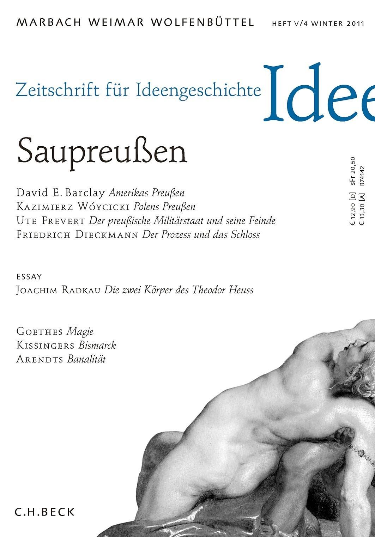 Zeitschrift für Ideengeschichte Heft V/4 Winter 2011 (Cover)