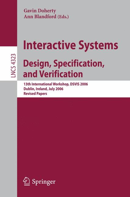 Abbildung von Doherty / Blandford | Interactive Systems. Design, Specification, and Verification | 2007