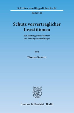 Abbildung von Krawitz | Schutz vorvertraglicher Investitionen | 1. Auflage | 2015 | 446 | beck-shop.de