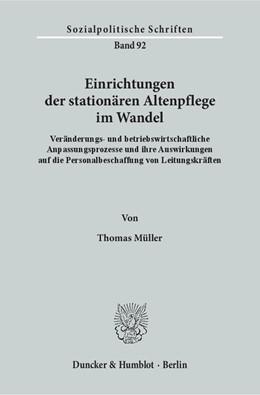 Abbildung von Müller | Einrichtungen der stationären Altenpflege im Wandel. | 2015 | Veränderungs- und betriebswirt... | 92