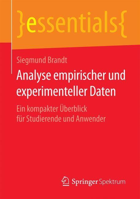 Analyse empirischer und experimenteller Daten | Brandt | 2015, 2015 | Buch (Cover)