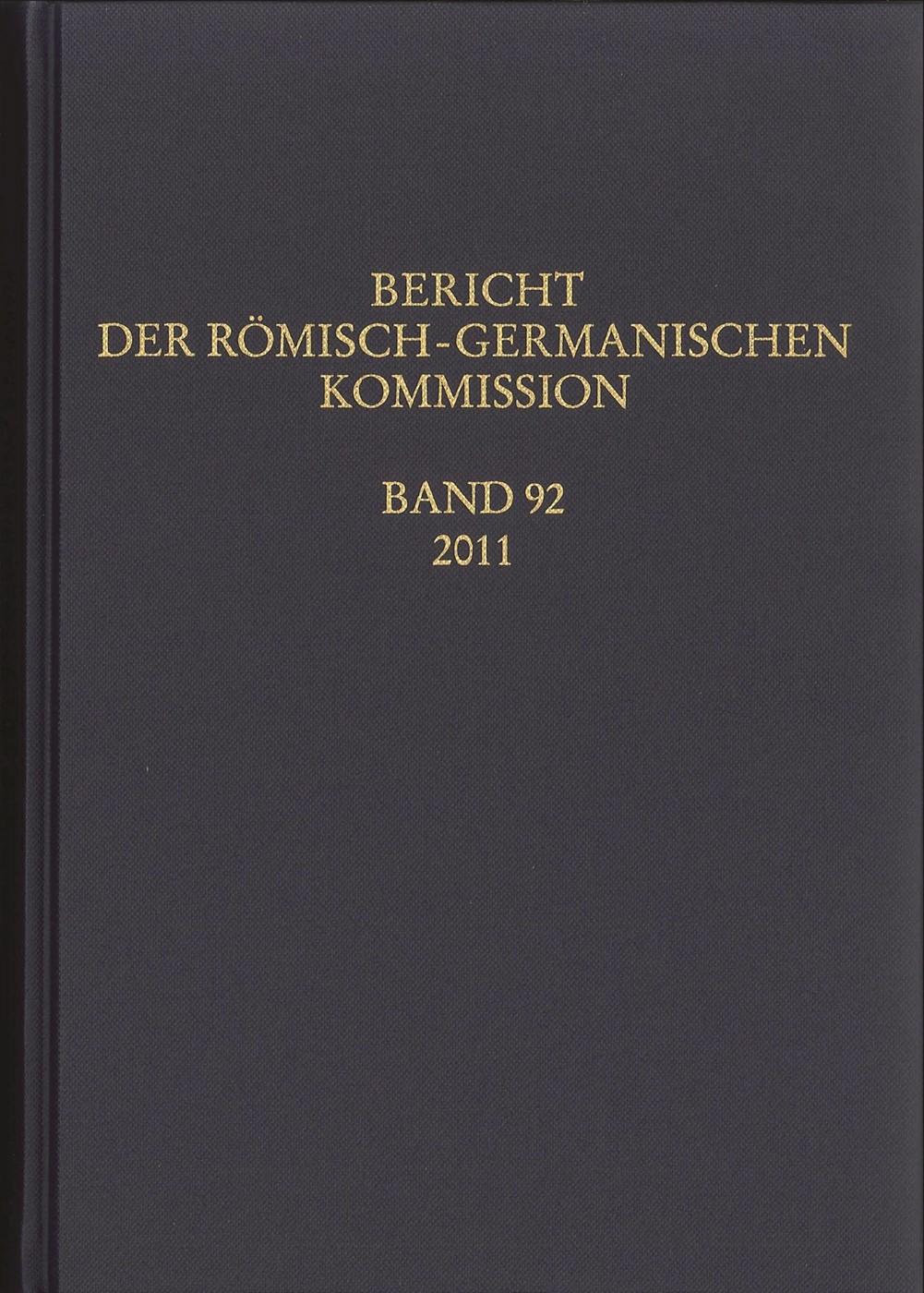 Abbildung von Bericht der Römisch-Germanischen Kommission | 2015