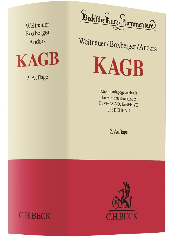 KAGB | Weitnauer / Boxberger / Anders | 2. Auflage, 2017 | Buch (Cover)
