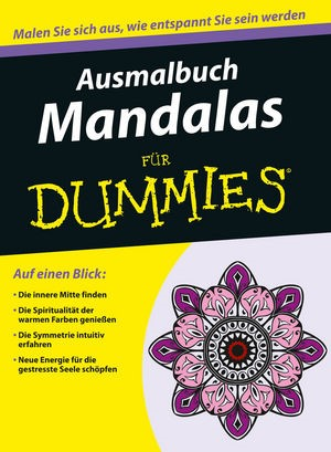 Ausmalbuch Mandalas für Dummies, 2015   Buch (Cover)
