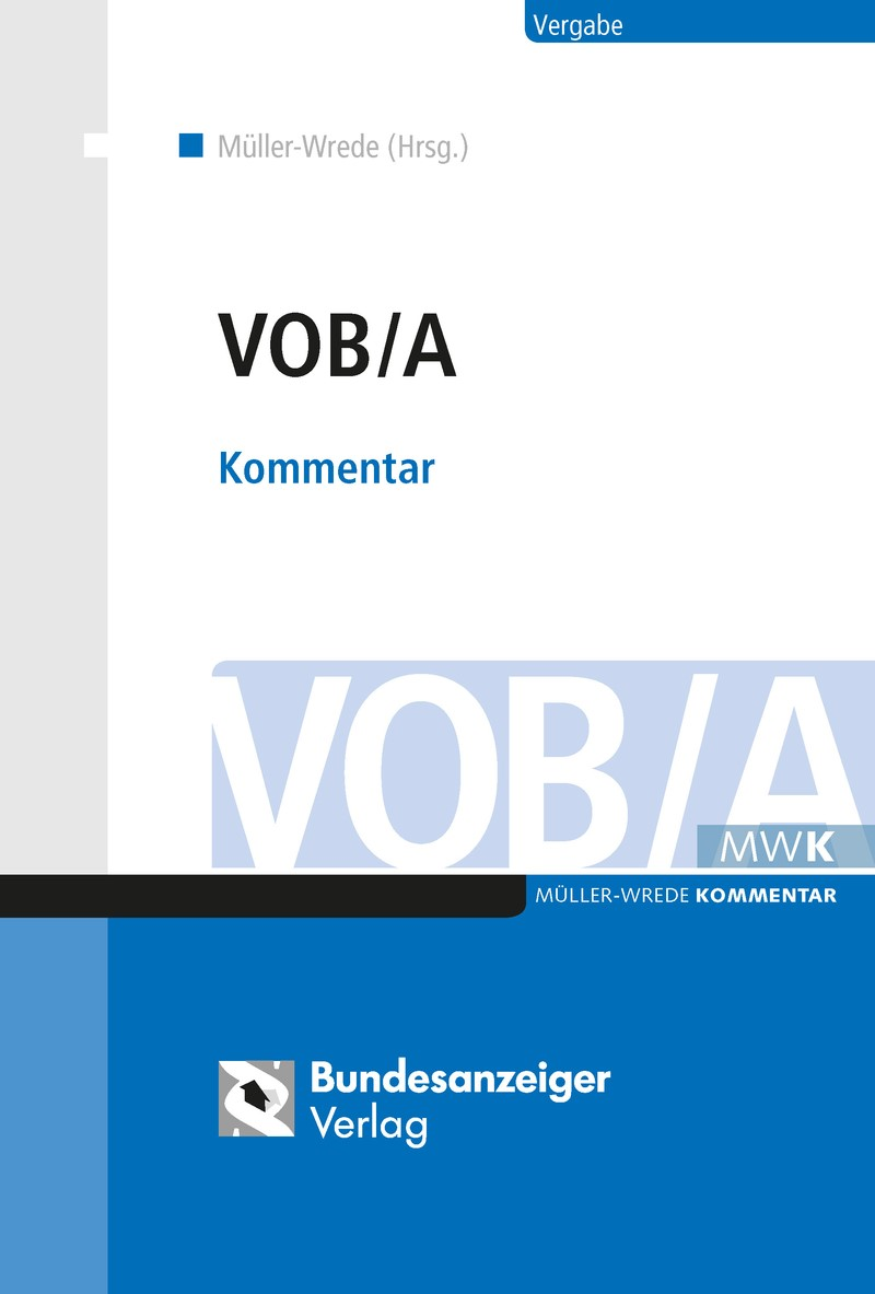 VOB/A | Müller-Wrede (Hrsg.), 2018 | Buch (Cover)