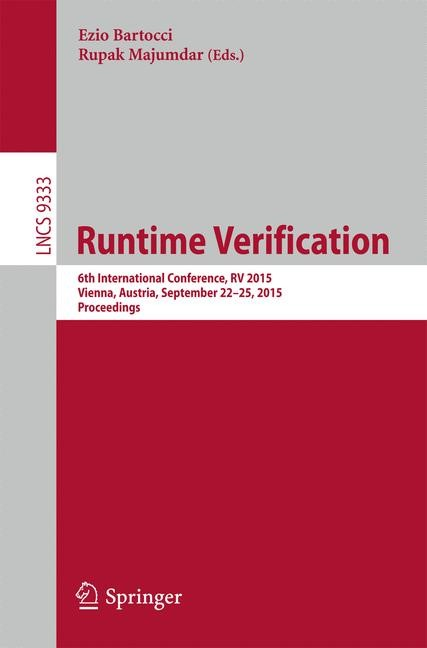 Runtime Verification | Bartocci / Majumdar (Hrsg.), 2015 | Buch (Cover)