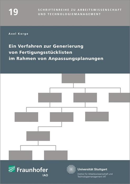 Ein Verfahren zur Generierung von Fertigungsstücklisten im Rahmen von Anpassungsplanungen. | / Spath / Bullinger, 2015 | Buch (Cover)
