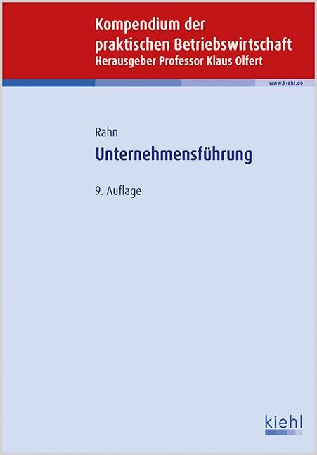Unternehmensführung | Olfert (Hrsg.)/ Rahn | 9., aktualisierte Auflage, 2015 | Buch (Cover)