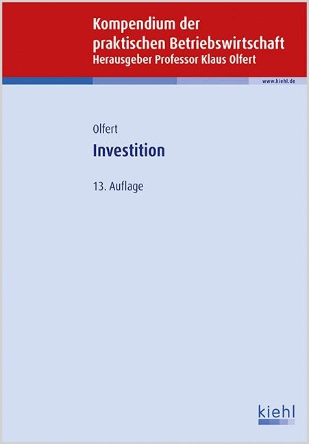 Investition | Olfert | 13., aktualisierte Auflage, 2015 | Buch (Cover)