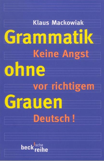 Cover: Klaus Mackowiak, Grammatik ohne Grauen