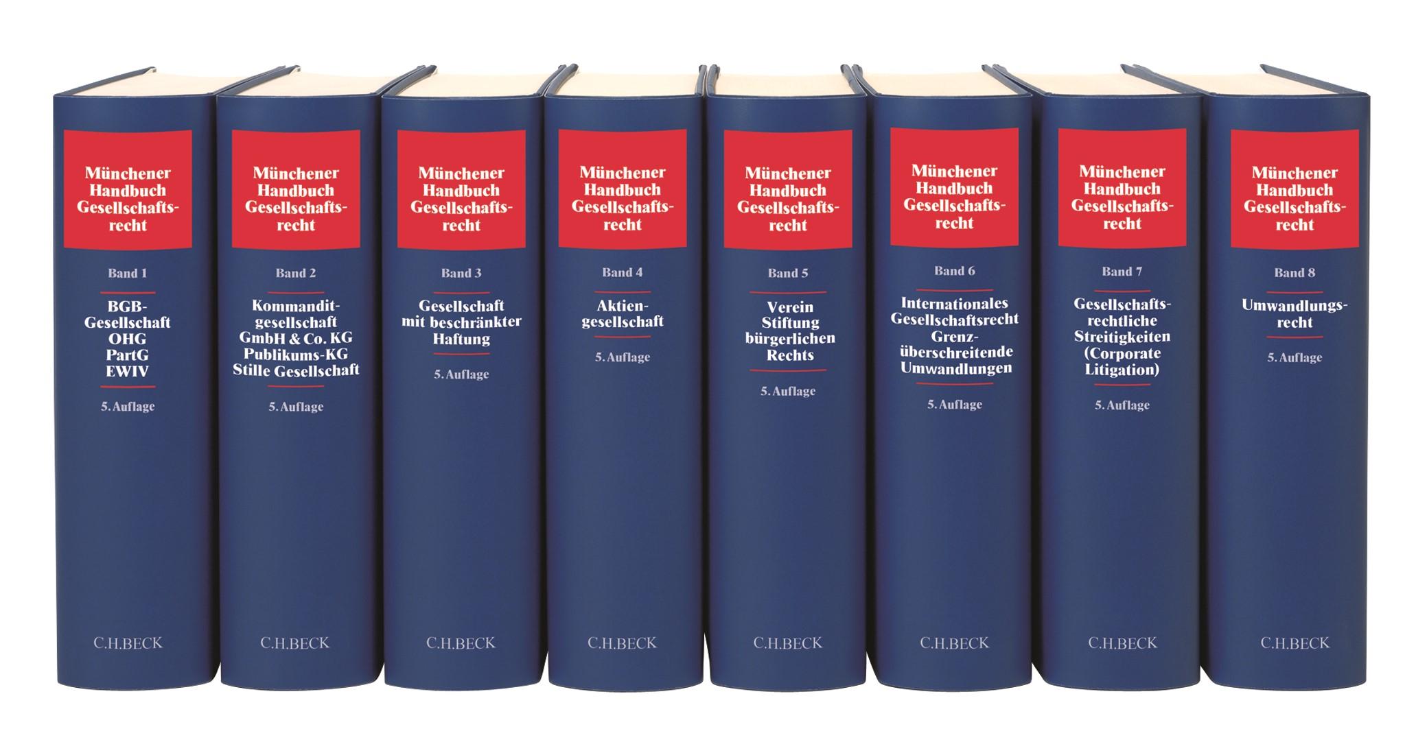 Münchener Handbuch des Gesellschaftsrechts | 5. Auflage, 2018 | Buch (Cover)