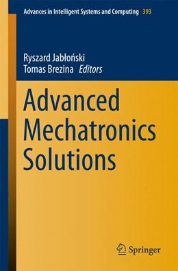 Abbildung von Jablonski / Brezina | Advanced Mechatronics Solutions | 1. Auflage | 2015 | 393 | beck-shop.de