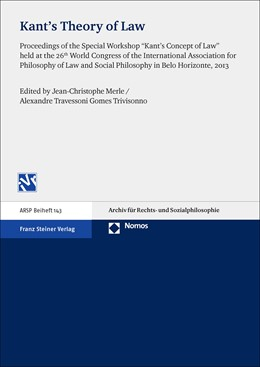 Abbildung von Merle / Trivisonno | Kant's Theory of Law | 2015 | Proceedings of the Special Wor...