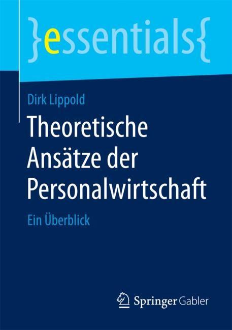 Theoretische Ansätze der Personalwirtschaft | Lippold, 2015 | Buch (Cover)