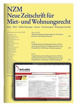 Abbildung von NZM • Neue Zeitschrift für Miet- und Wohnungsrecht | 21. Auflage | 2020 | beck-shop.de