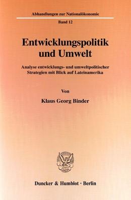 Abbildung von Binder | Entwicklungspolitik und Umwelt. | 2000 | Analyse entwicklungs- und umwe... | 12