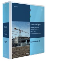 Abbildung von DIN e.V. / DVA (Hrsg.) | VOB 2012 in Englisch - Ergänzungsband 2015 | Loseblattwerk | 2016 | Vergabe- und Vertragsordnung f...